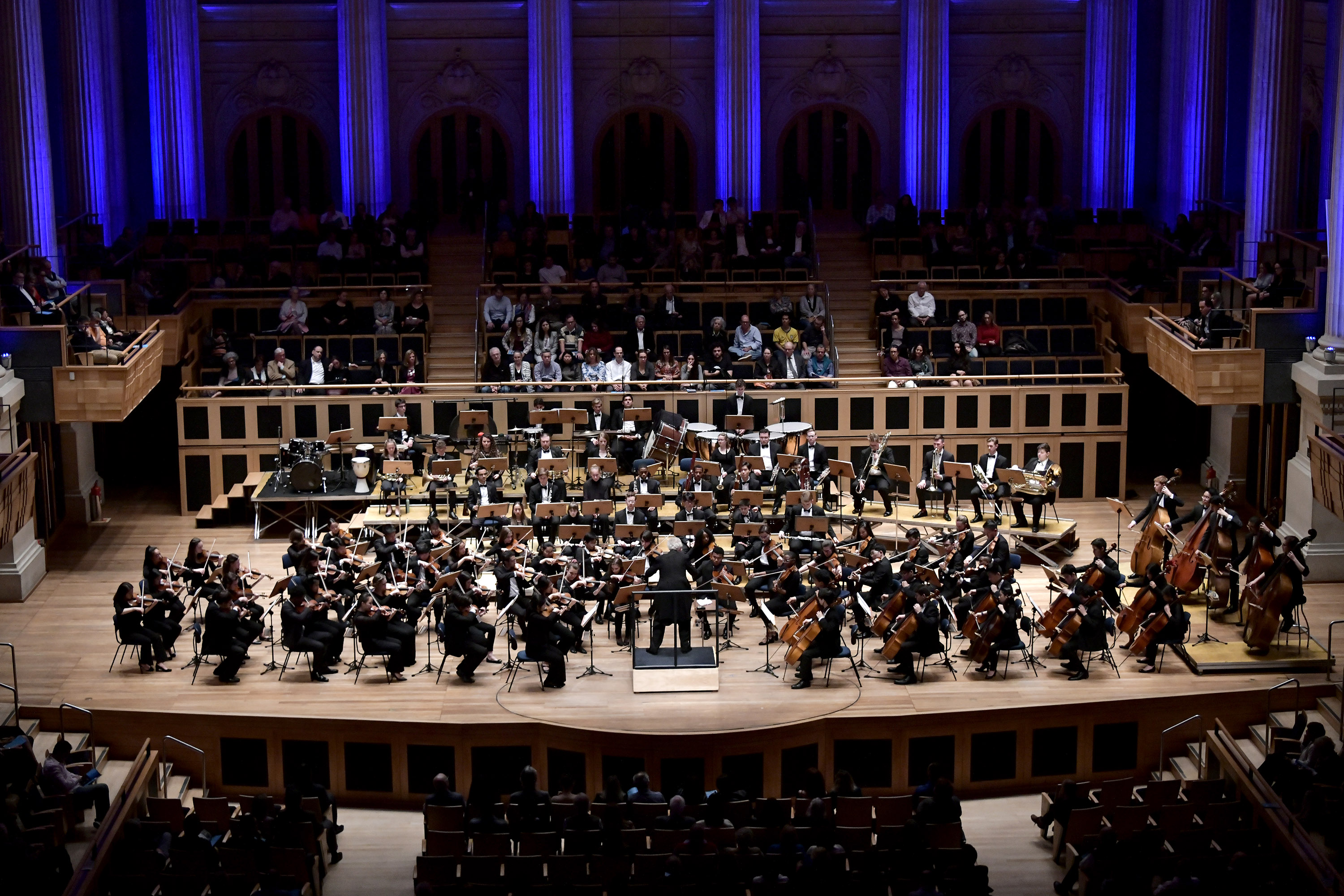 The BPYO performing Shostakovich's Symphony no. 10 in the Sala São Paulo