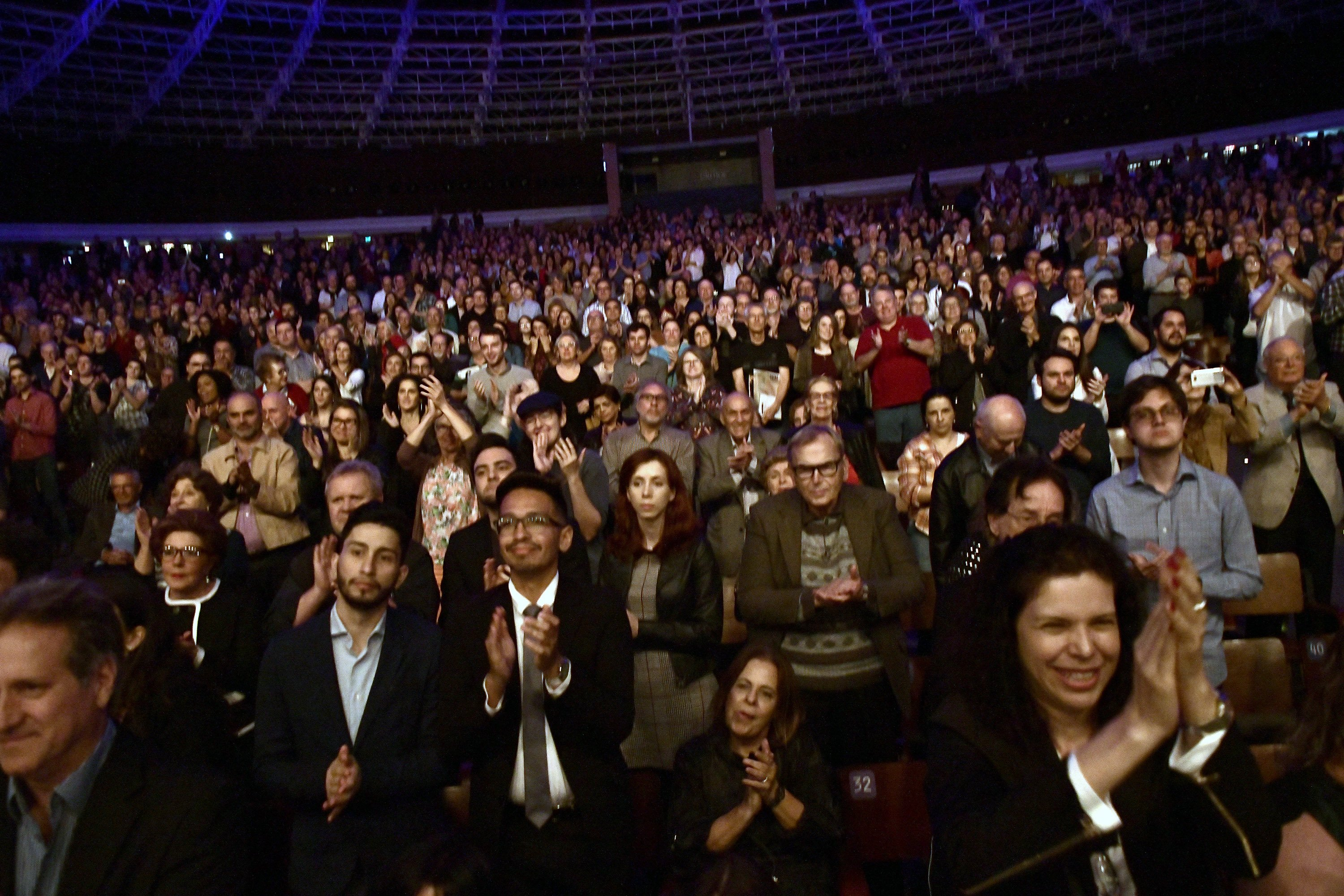 Some of the BPYO's audience in Porto Alegre