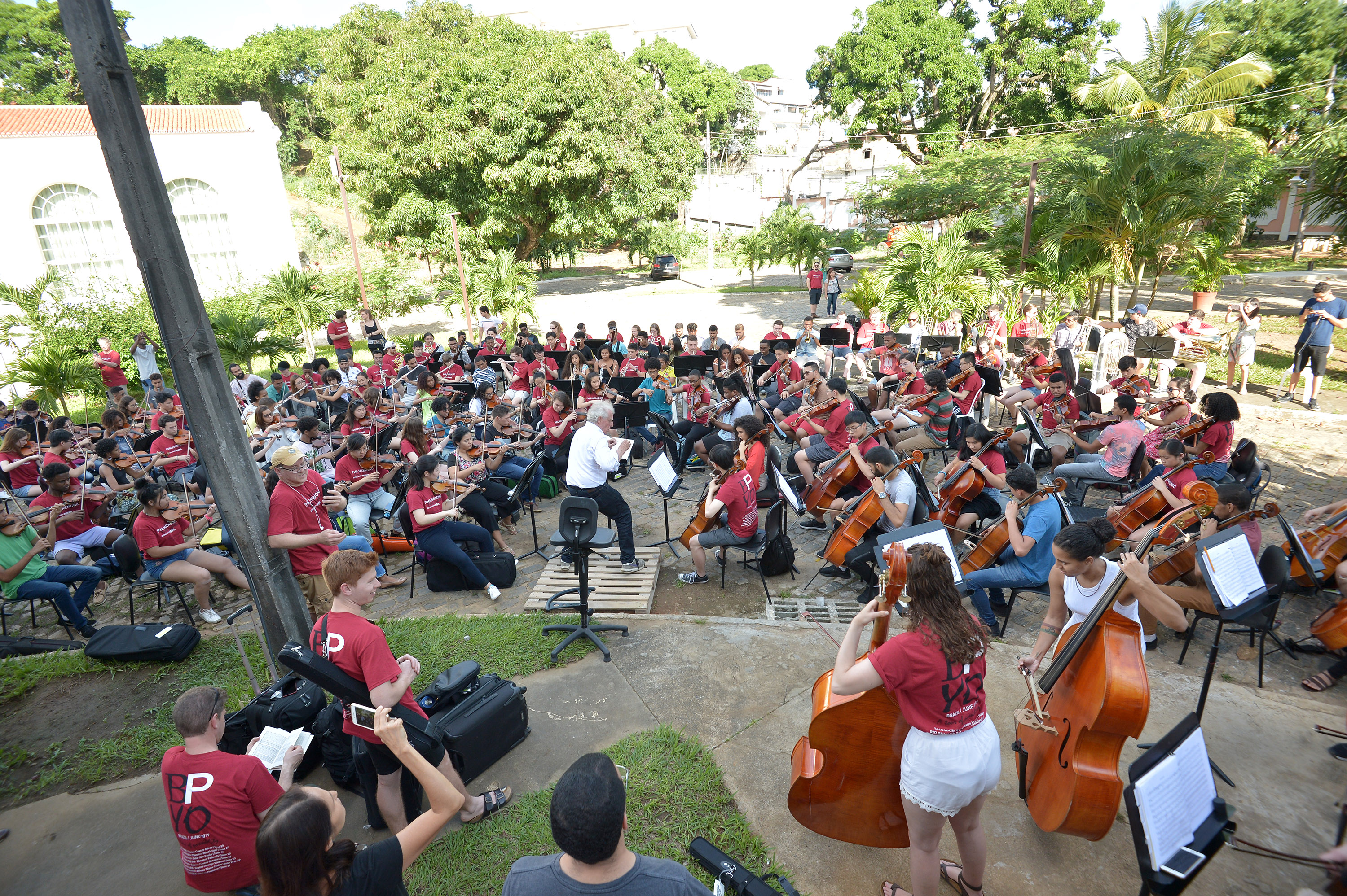 The BPYO playing Dvorak with NEOJIBA orchestra in Salvador