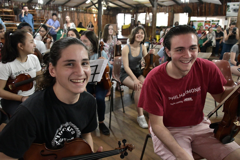 BPYO violinist Eli Willis with a new friend