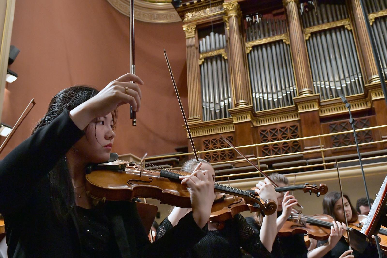 FY18 BPYO Tour - Rudolfinum Mitsuru rehearsal (credit - Paul Marotta)