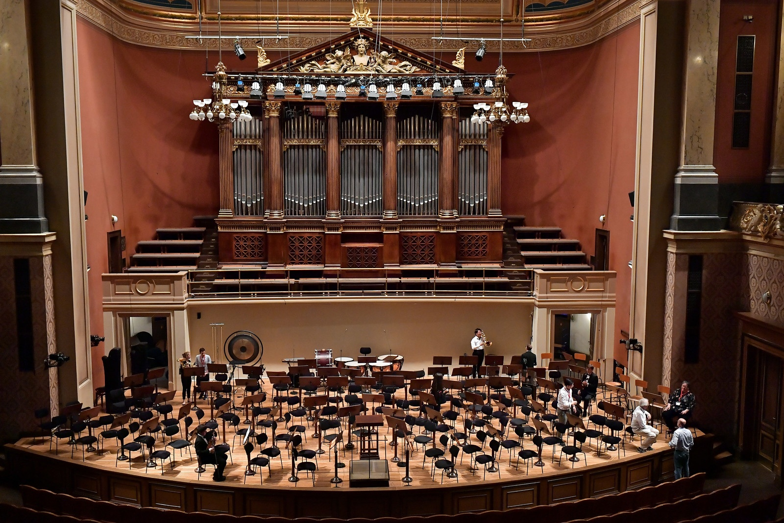 FY18 BPYO Tour - Rudolfinum empty stage (credit - Paul Marotta)