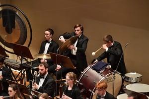 FY18 BPYO Tour - Rudolfinum percussion section (credit - Paul Marotta)