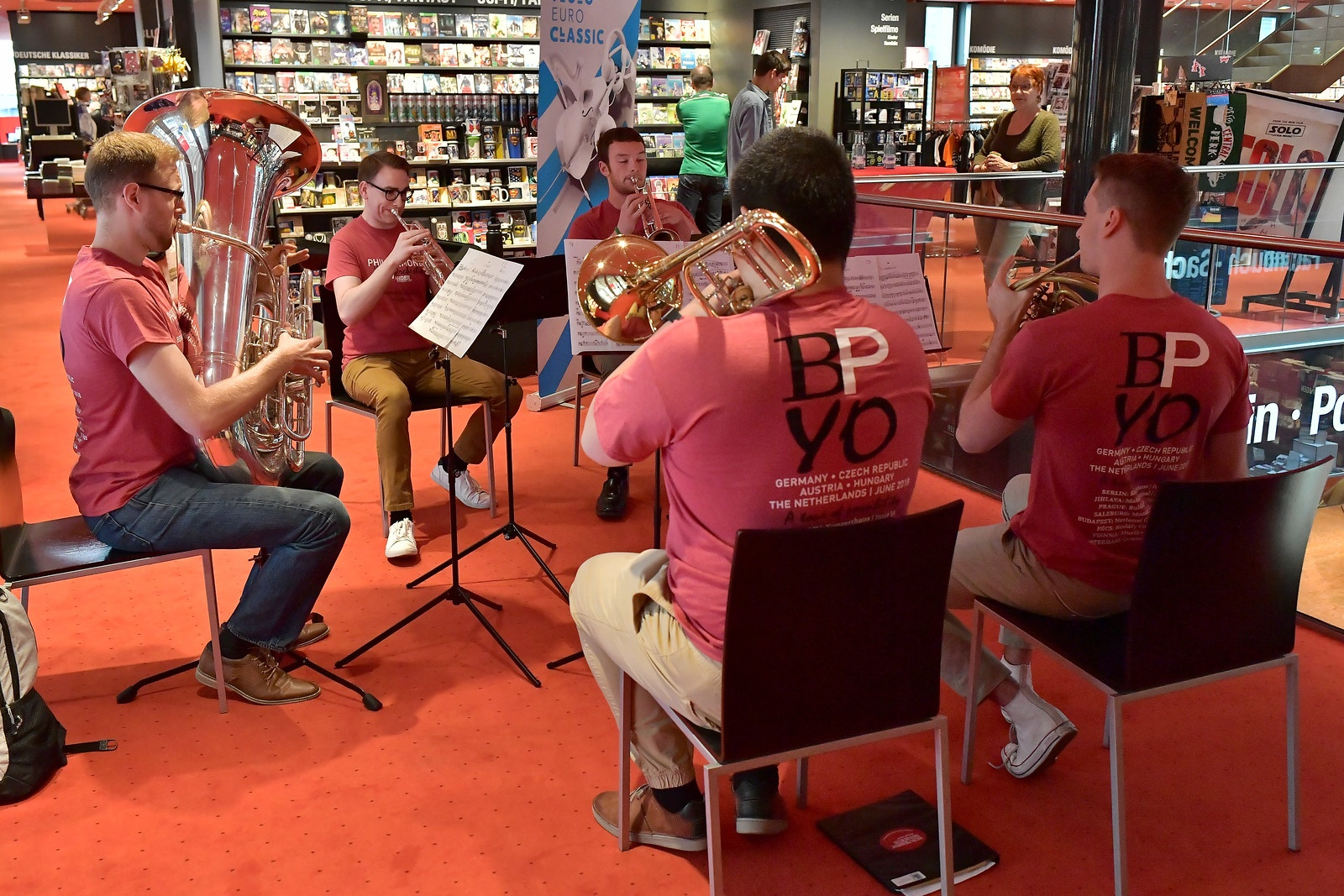 FY18 BPYO Tour - BPYO brass quintet Berlin (credit - Paul Marotta)