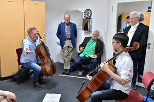 FY18 BPYO Tour - Zach Fung private lesson Berlin (credit - Paul Marotta)